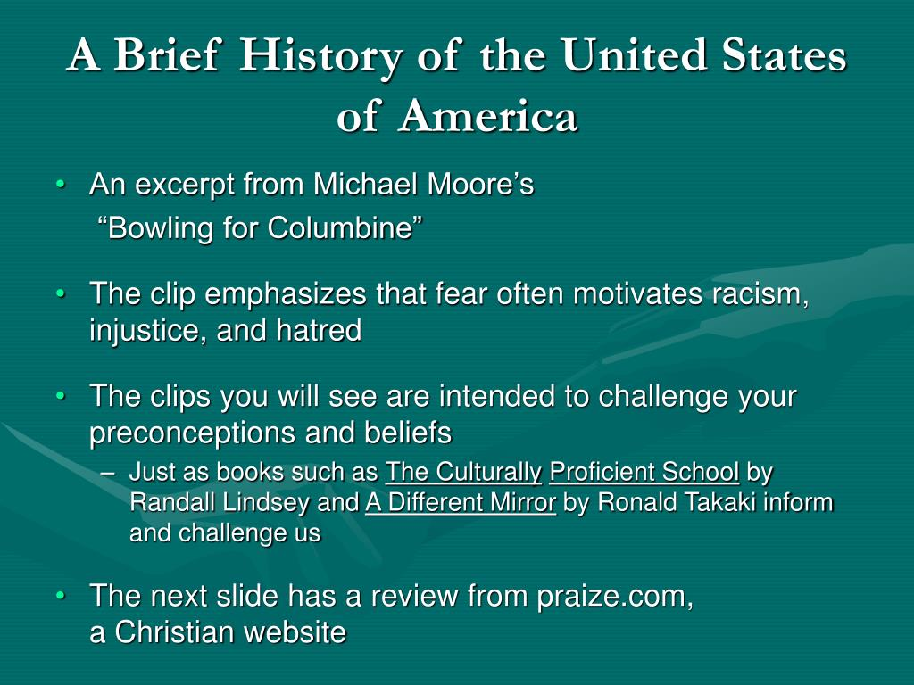 A Brief History of the United States of America