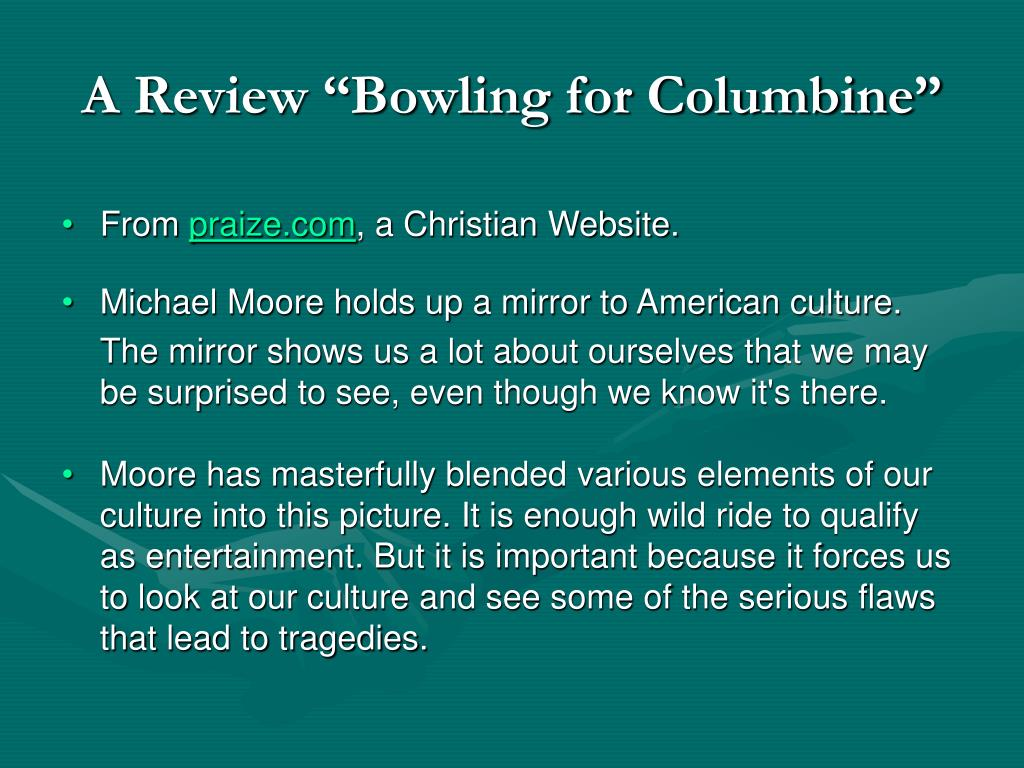 "A Review ""Bowling for Columbine"""