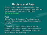 racism and fear