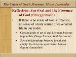 the crises of god s presence moses intercedes24