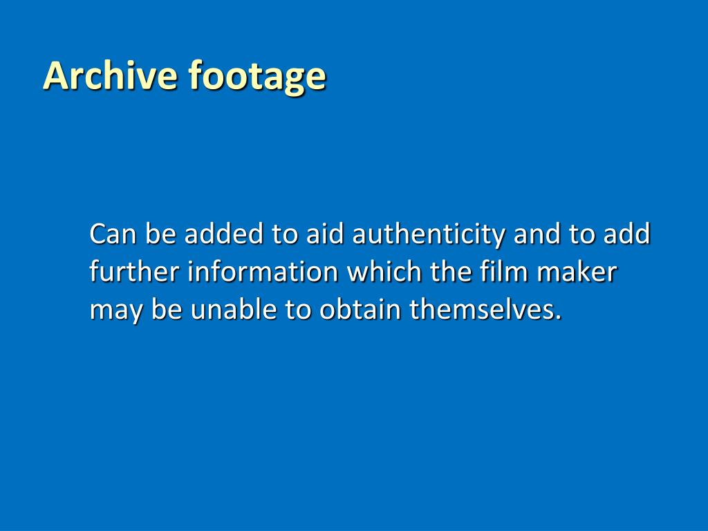 Archive footage