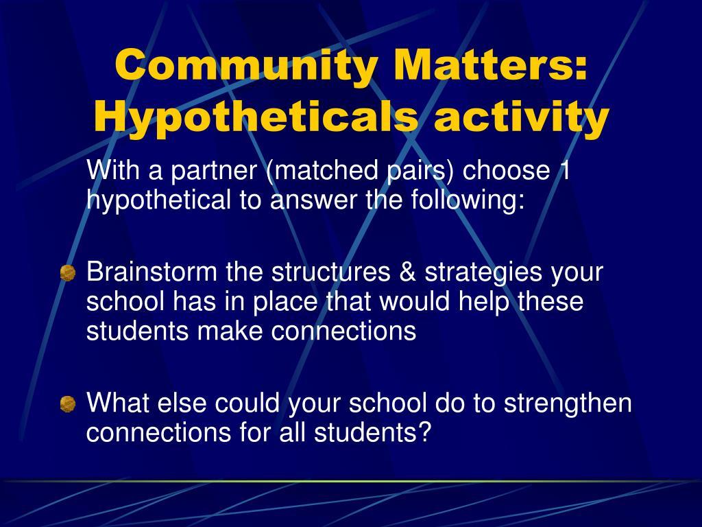 Community Matters: