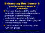 enhancing resilience 1 communication changes challenges