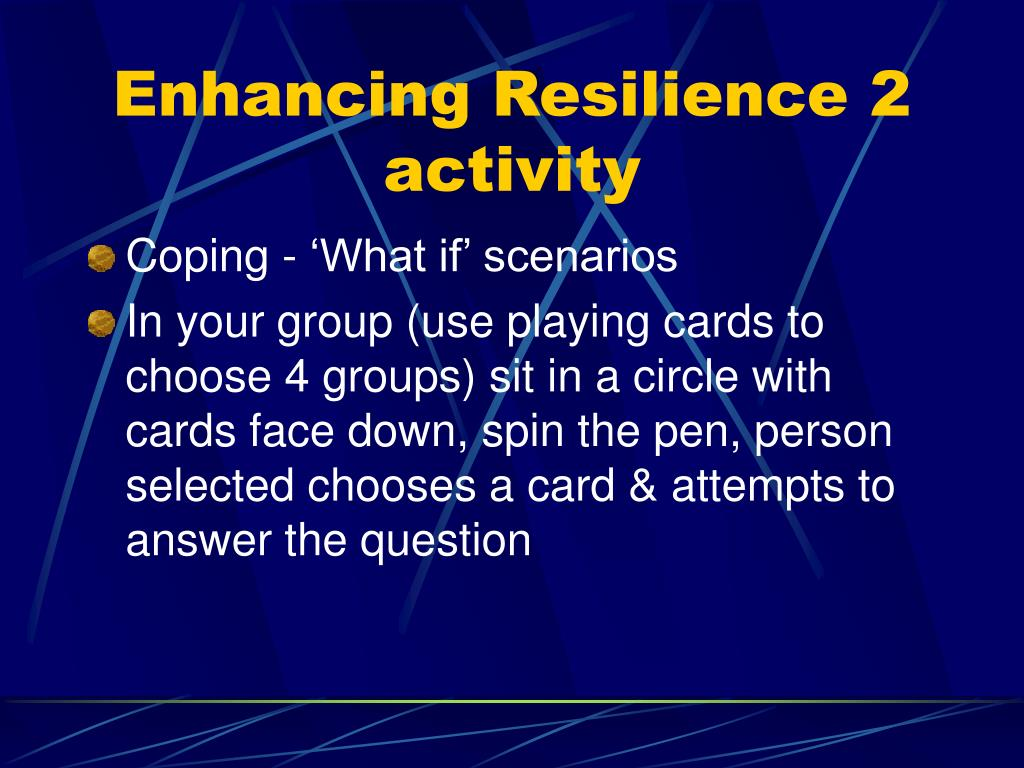 Enhancing Resilience 2 activity