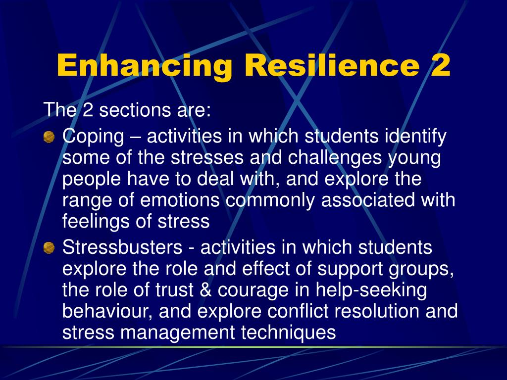 Enhancing Resilience 2