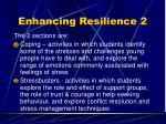 enhancing resilience 2