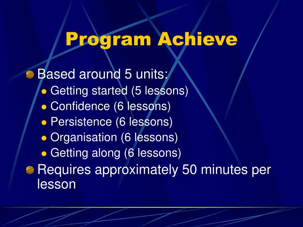 Program Achieve