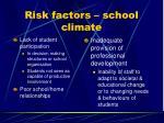 risk factors school climate11