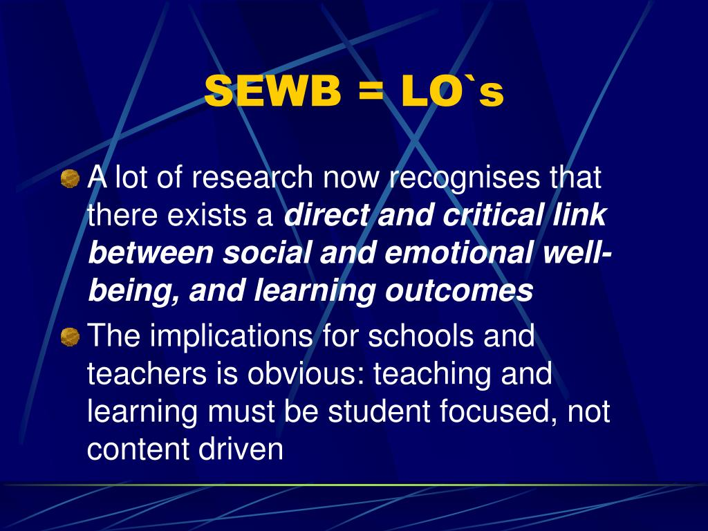SEWB = LO`s