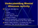 understanding mental illnesses activity