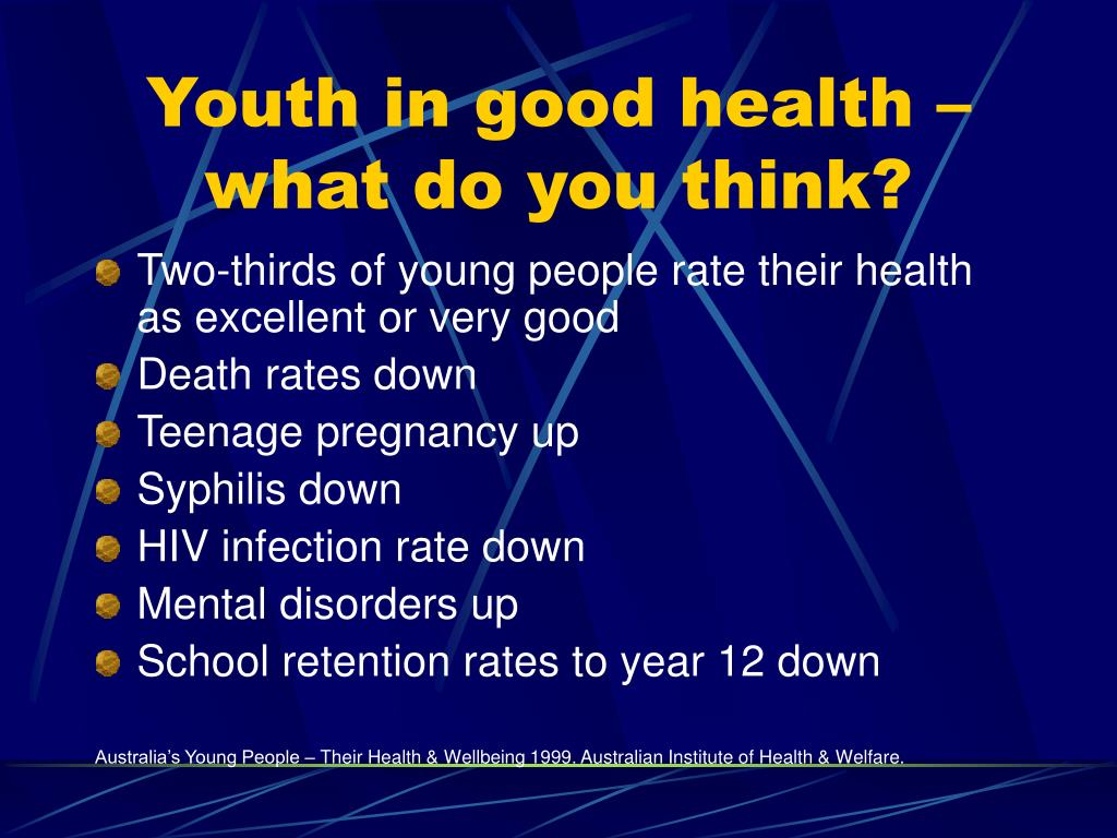 Youth in good health – what do you think?