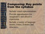 composing key points from the syllabus