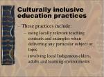culturally inclusive education practices