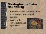 strategies to foster risk taking40