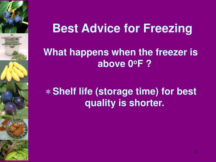 Best Advice for Freezing