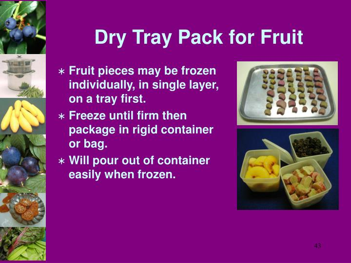 Dry Tray Pack for Fruit
