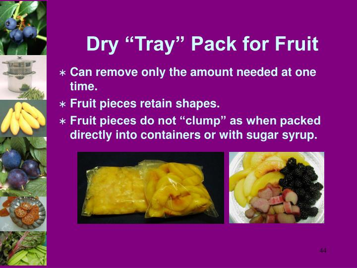 """Dry """"Tray"""" Pack for Fruit"""