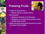 freezing fruits