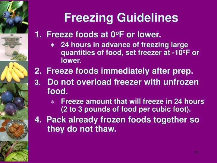 Freezing Guidelines