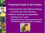 packing foods to be frozen