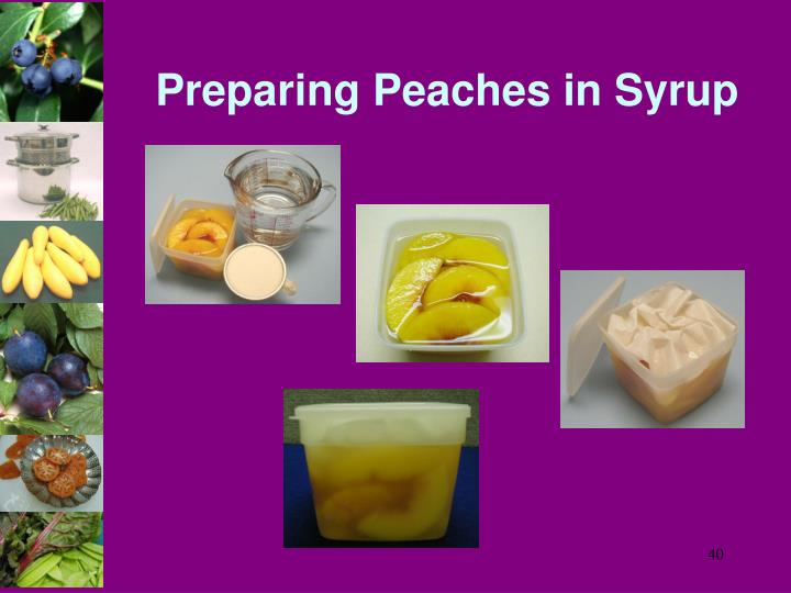 Preparing Peaches in Syrup