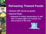 refreezing thawed foods