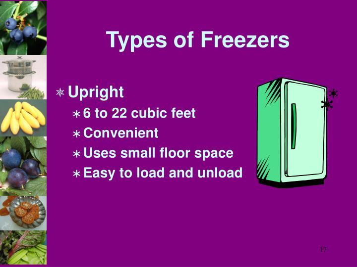 Types of Freezers