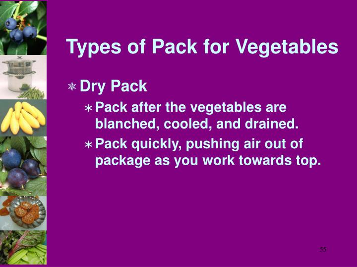 Types of Pack for Vegetables