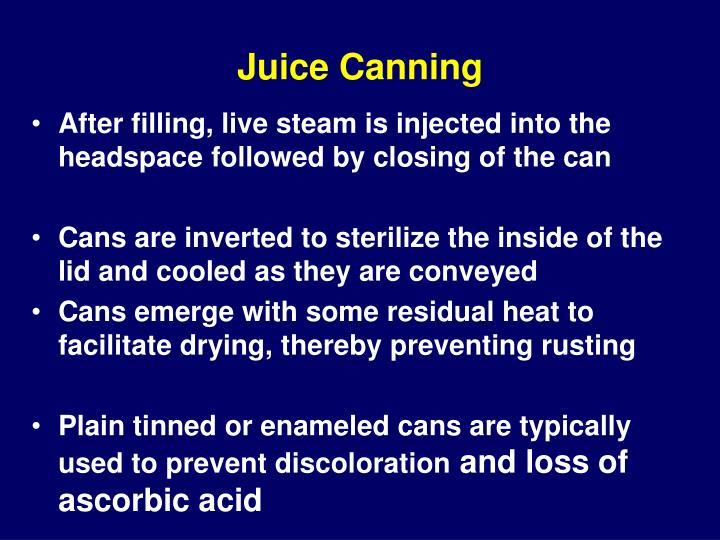 Juice Canning
