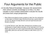 four arguments for the public