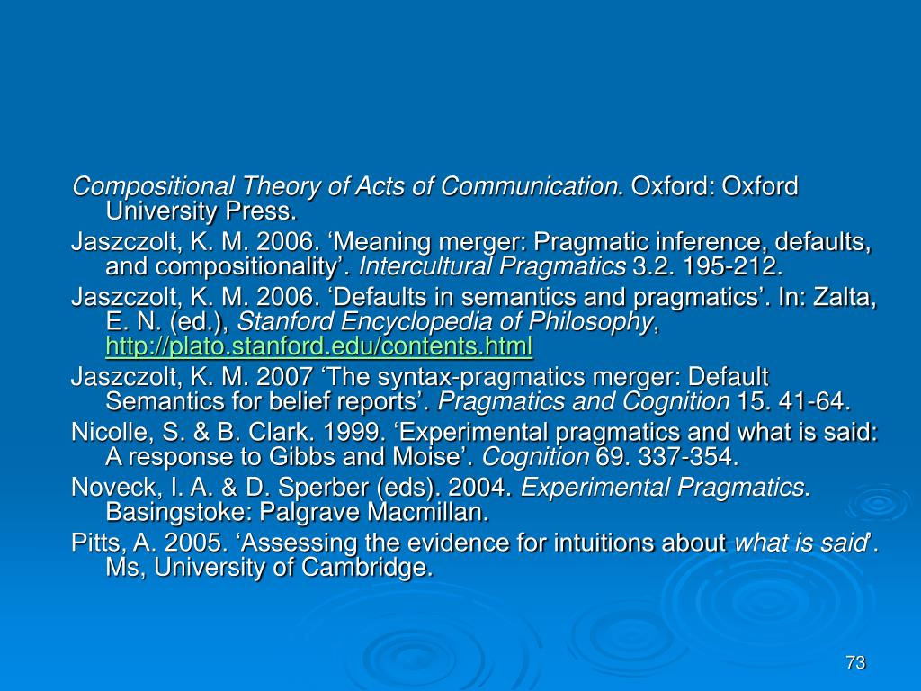 Compositional Theory of Acts of Communication