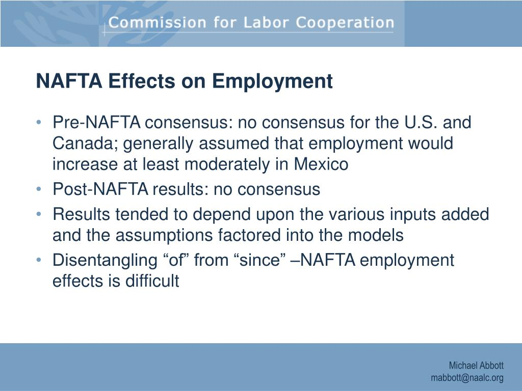 NAFTA Effects on Employment