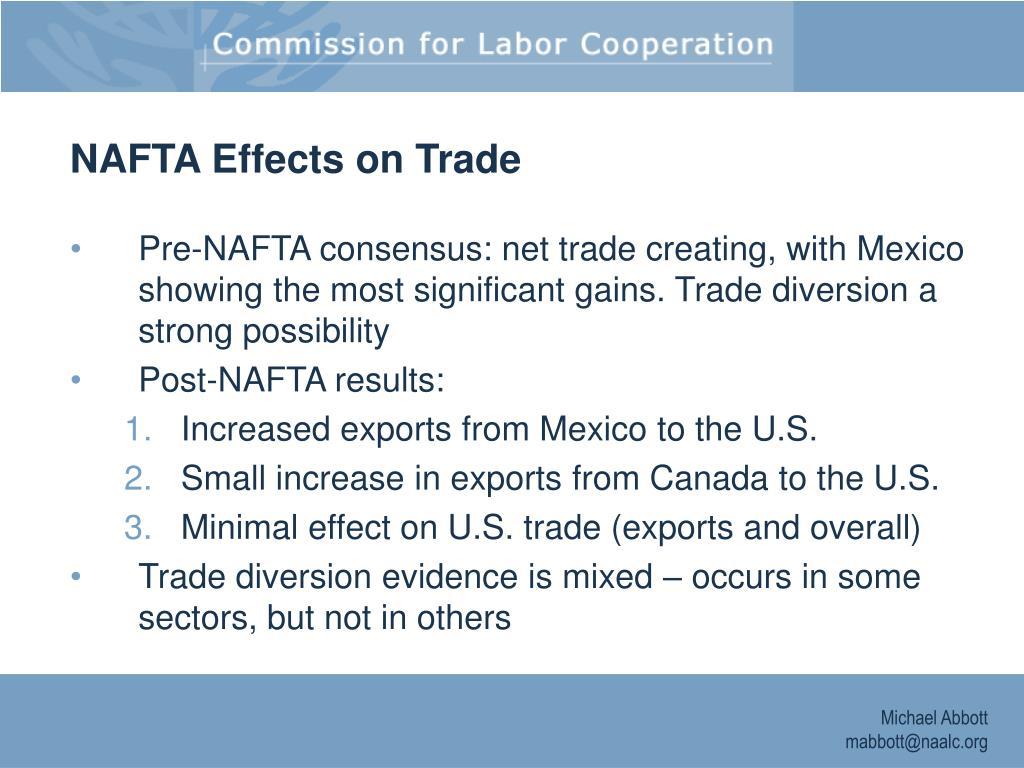 NAFTA Effects on Trade