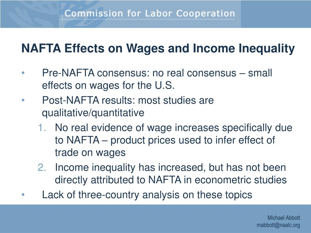 NAFTA Effects on Wages and Income Inequality