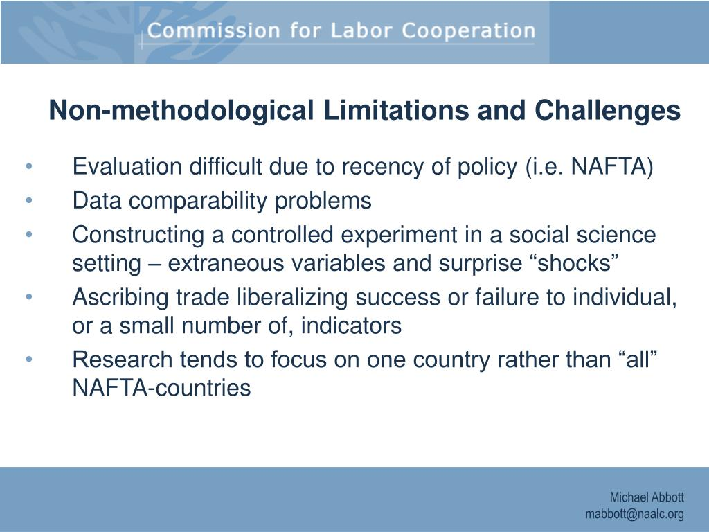 Non-methodological Limitations and Challenges