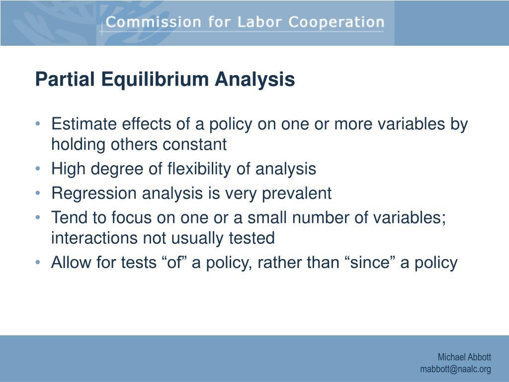 Partial Equilibrium Analysis