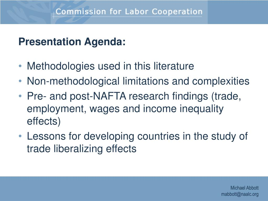 Presentation Agenda: