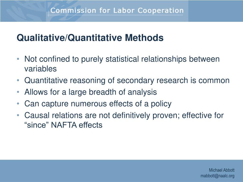 Qualitative/Quantitative Methods