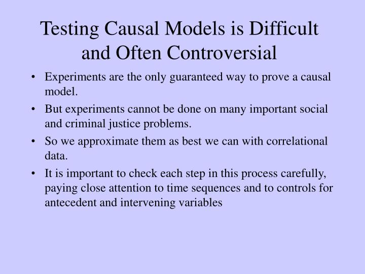 Testing Causal Models is Difficult and Often Controversial