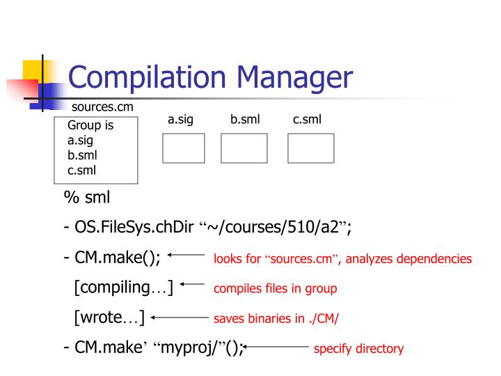Compilation Manager