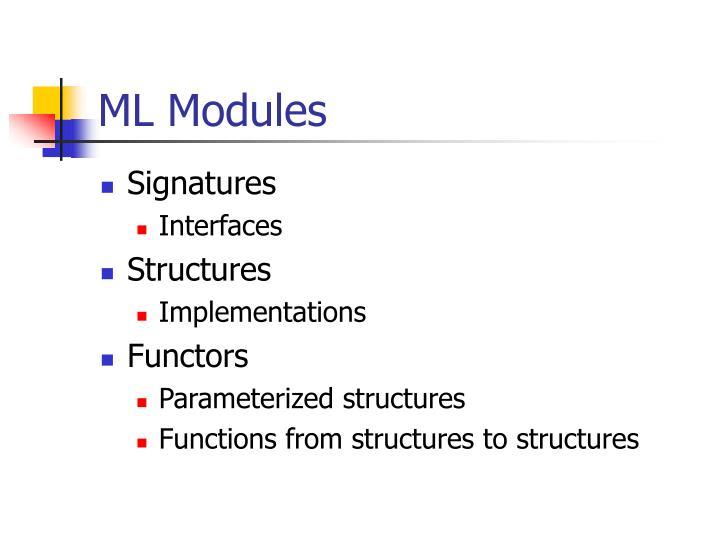 ML Modules