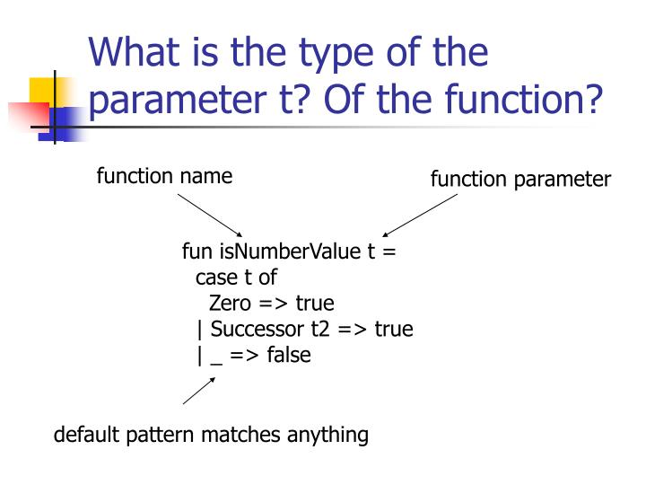 What is the type of the parameter t? Of the function?