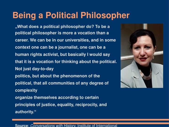 Being a Political Philosopher