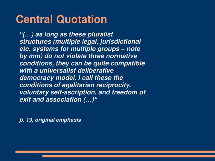 Central Quotation