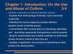 chapter 1 introduction on the use and abuse of culture 3 4