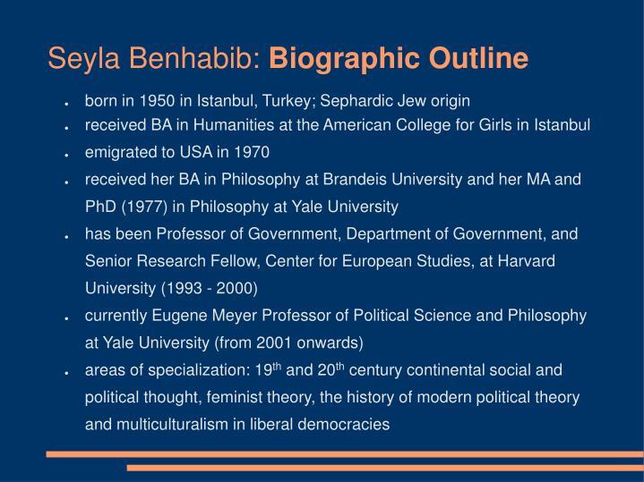 Seyla Benhabib: