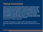 textual connection