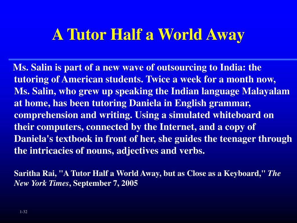 A Tutor Half a World Away
