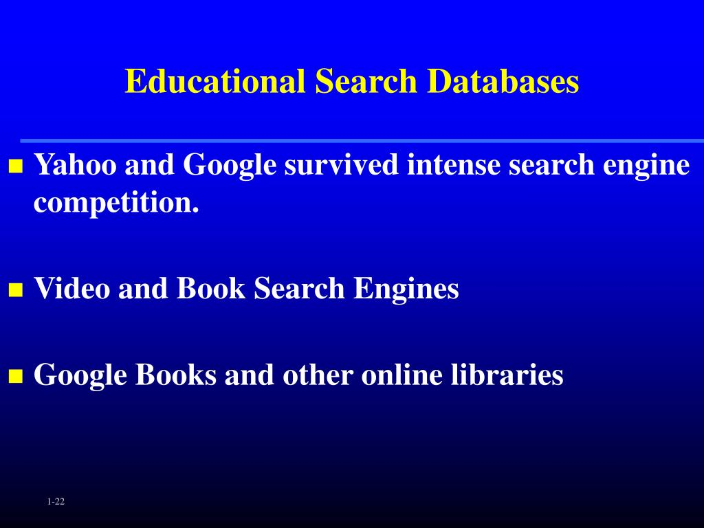Educational Search Databases
