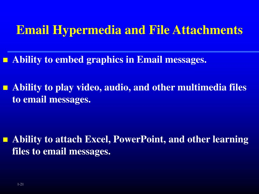 Email Hypermedia and File Attachments
